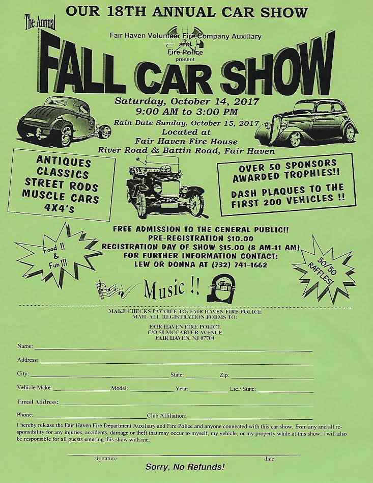 2017 Annual Fall Car Show